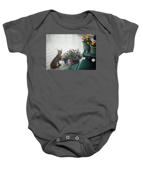 Swat The Petunias Baby Onesie