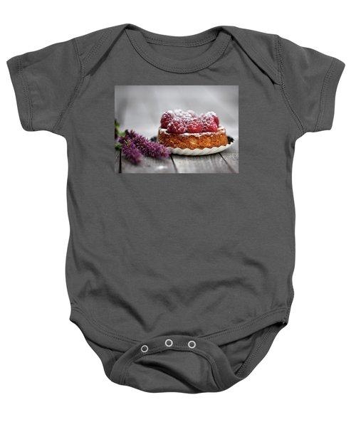 Raspberry Tarte Baby Onesie by Nailia Schwarz