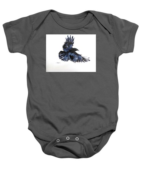 Raven In Flight Baby Onesie