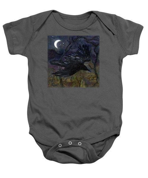 Raven In Stars Baby Onesie