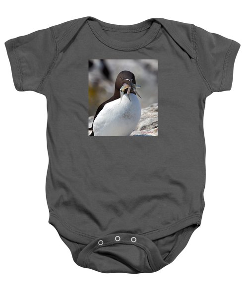 Razorbill With Catch Baby Onesie