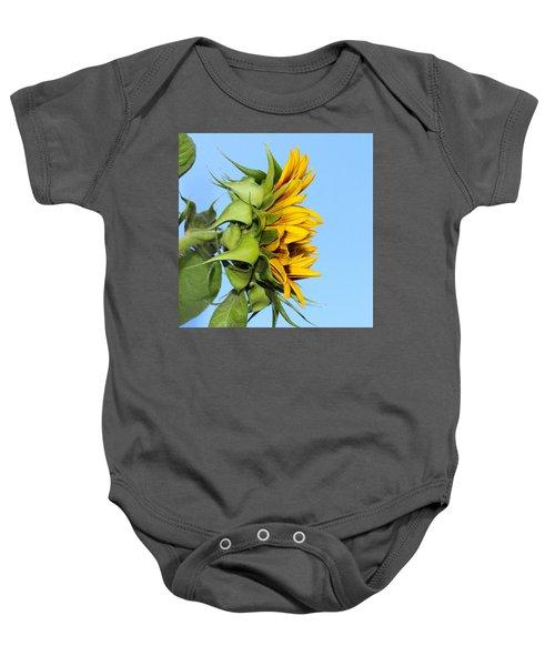 Reaching Sunflower Baby Onesie