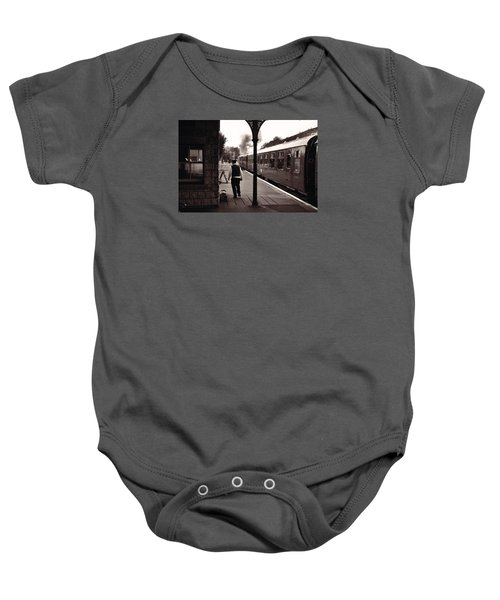 Ready To Depart Corfe Castle Station Baby Onesie by Nop Briex