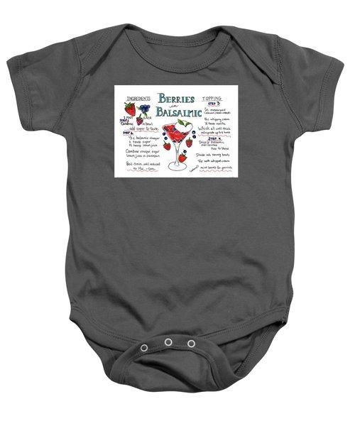 Recipe- Berries In Balsamic Baby Onesie