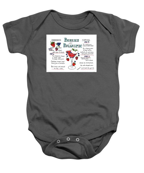 Recipe- Berries In Balsamic Baby Onesie