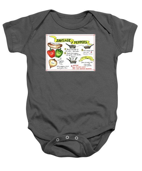Recipe Sausage And Peppers Baby Onesie