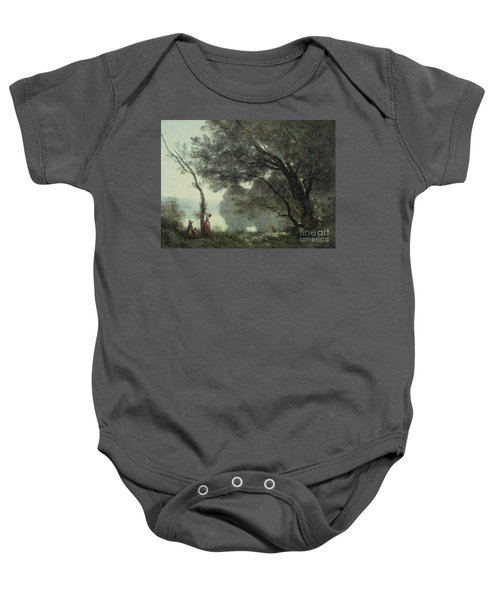 Recollections Of Mortefontaine Baby Onesie by Jean Baptiste Corot
