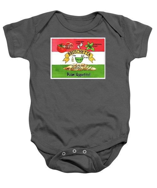 Recpe-bruschetta Baby Onesie