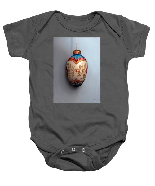 Red And Blue Filigree Egg Ornament Baby Onesie