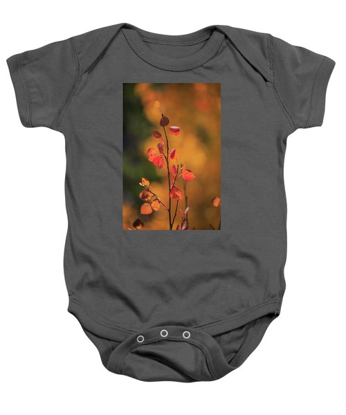 Red And Gold Baby Onesie