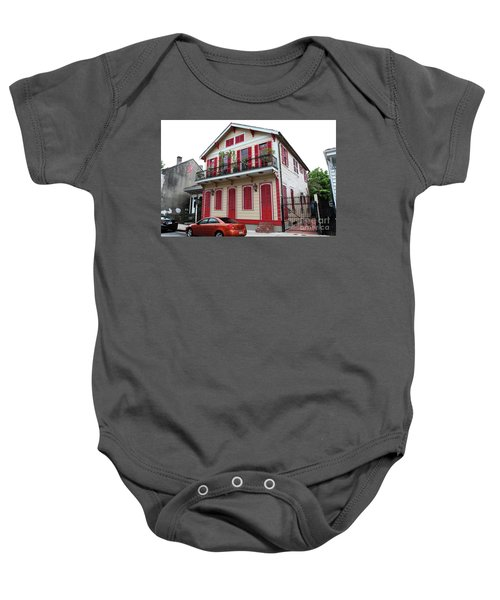 Red And Tan House Baby Onesie