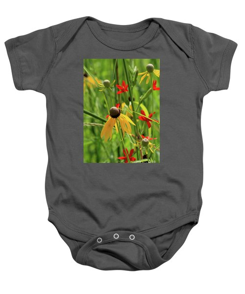Red And Yellow Baby Onesie
