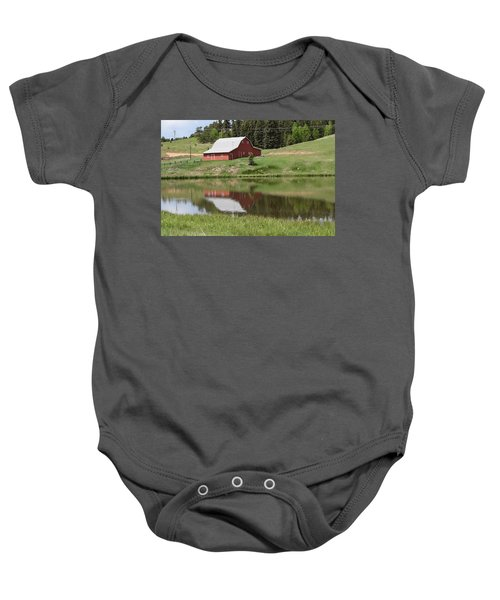 Red Barn Burgess Res Divide Co Baby Onesie