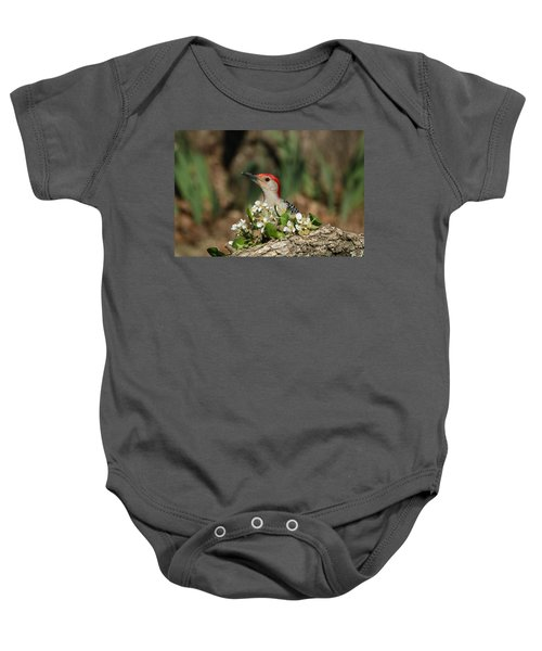 Red-bellied Woodpecker In Spring Baby Onesie