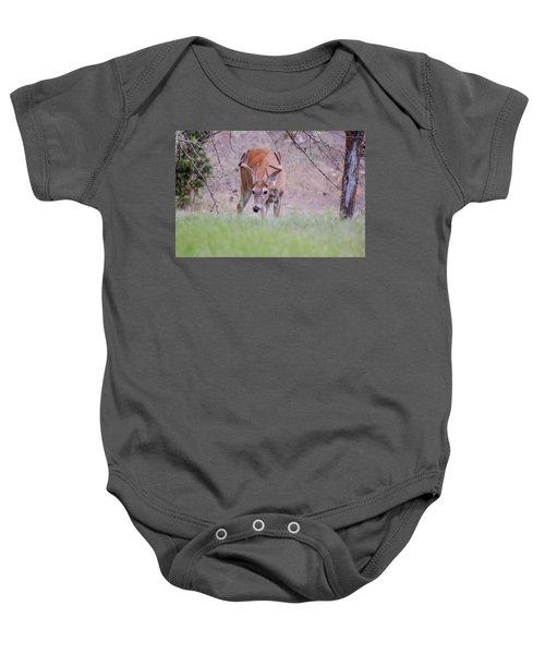 Red Bucks 6 Baby Onesie