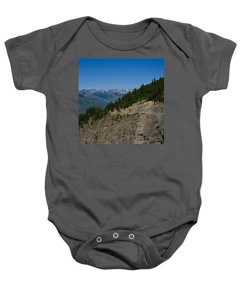 Red Buses, Glacier National Park Baby Onesie