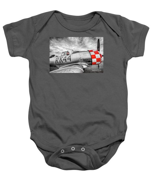 Red Checkers Baby Onesie