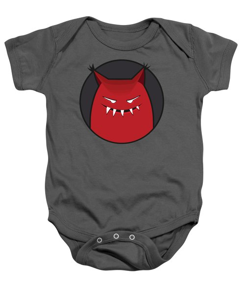 Red Evil Monster With Pointy Ears Baby Onesie
