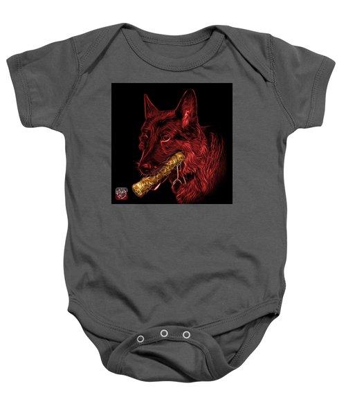 Red German Shepherd And Toy - 0745 F Baby Onesie
