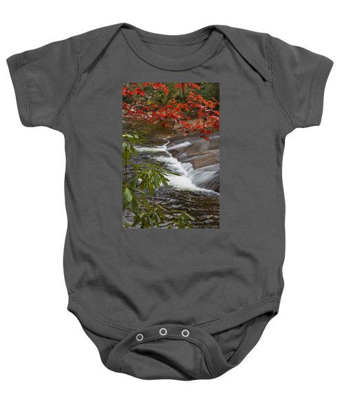 Red Leaf Falls Baby Onesie