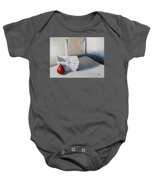 Red Pear Baby Onesie
