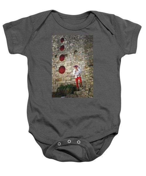 Red Piper Baby Onesie