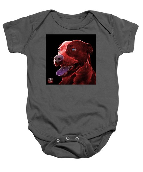 Red Pit Bull Fractal Pop Art - 7773 - F - Bb Baby Onesie