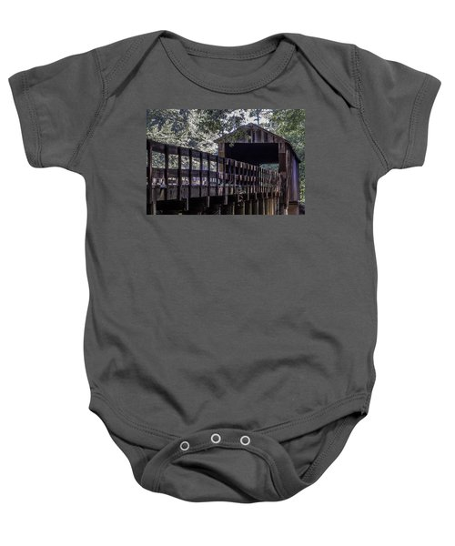 Red Oak Creek Bridge Baby Onesie