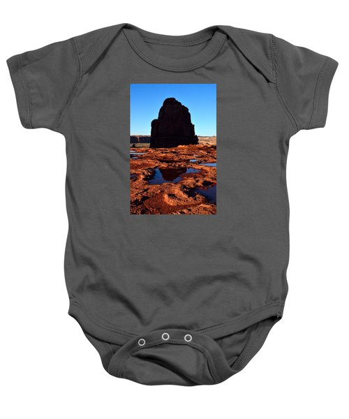 Red Rock Reflection At Sunset Baby Onesie