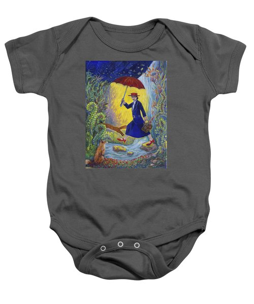 Red Shoes Mary Poppins Baby Onesie