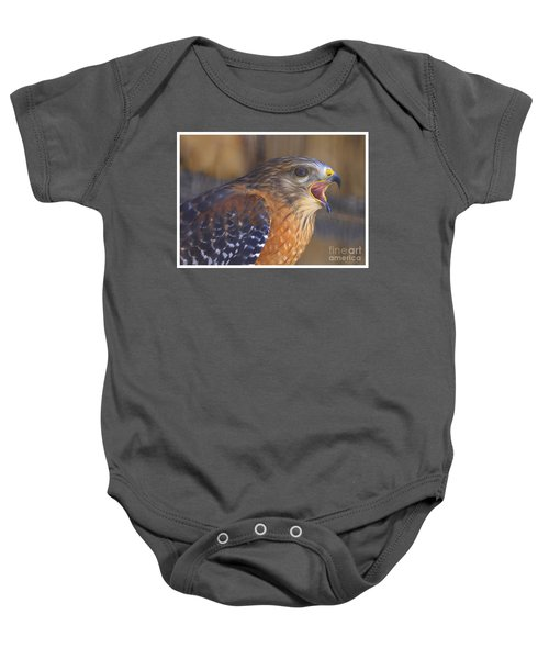 Red Shoulder Hawk Baby Onesie