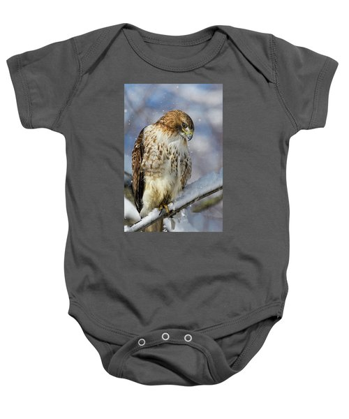Red Tailed Hawk, Glamour Pose Baby Onesie