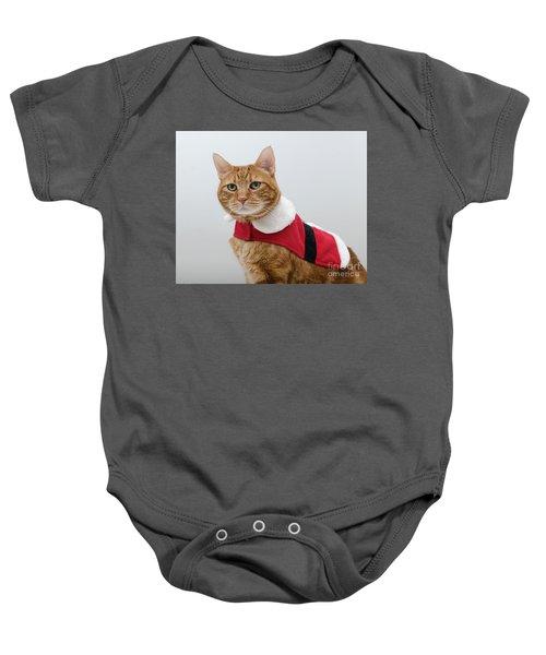 Red Tubby Cat Tabasco Santa Clause Baby Onesie