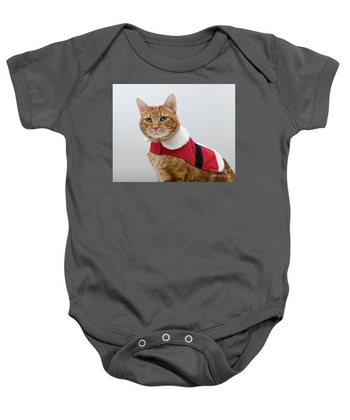 Red Tubby Cat Tabasco Santa Clause Baby Onesie
