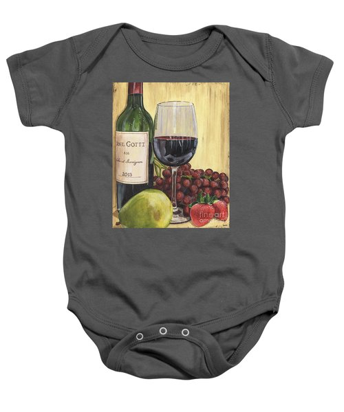 Red Wine And Pear 2 Baby Onesie