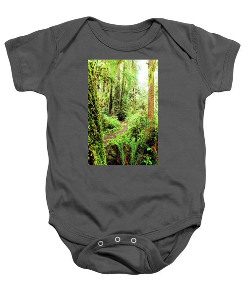Red Woods Trail Baby Onesie