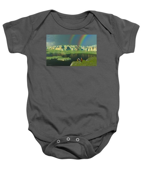 Redemption For An Angry Sky Baby Onesie