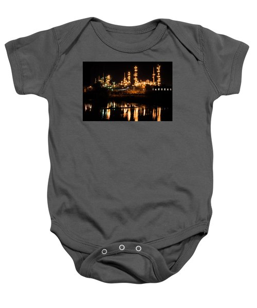 Refinery At Night 1 Baby Onesie