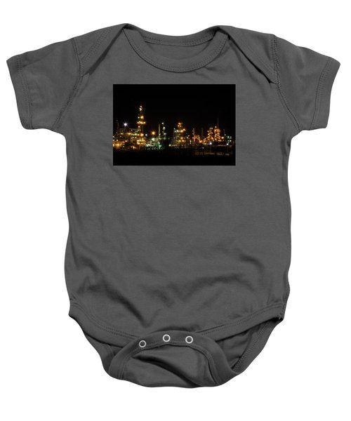 Refinery At Night 2 Baby Onesie