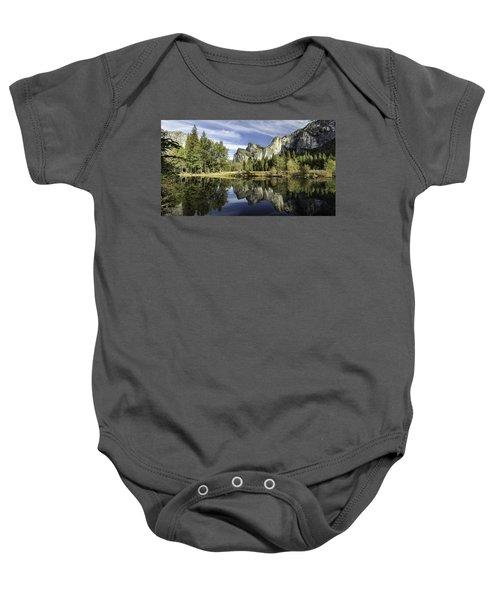 Reflecting On Yosemite Baby Onesie