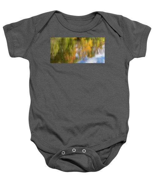 Reflection Of Fall #1, Abstract Baby Onesie