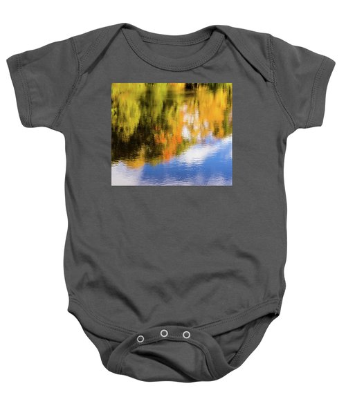 Reflection Of Fall #2, Abstract Baby Onesie