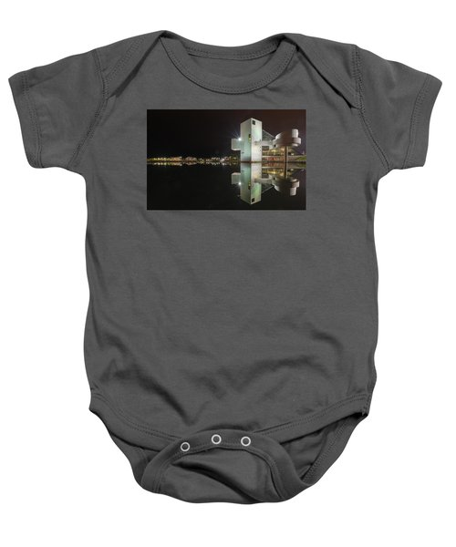 Reflection Of Rock And Roll In Cleveland Baby Onesie