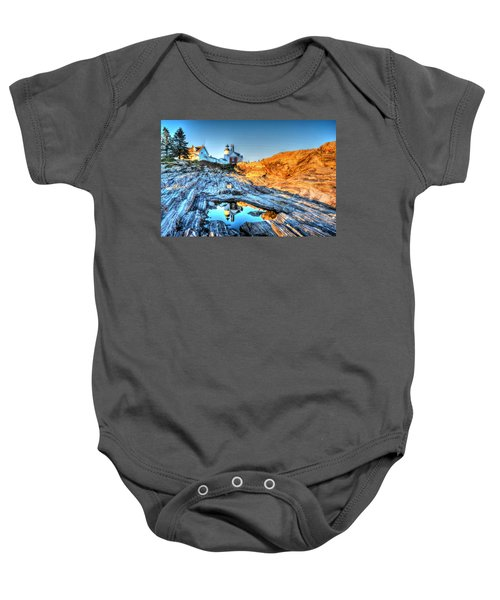 Reflections At Pemaquid Point Baby Onesie