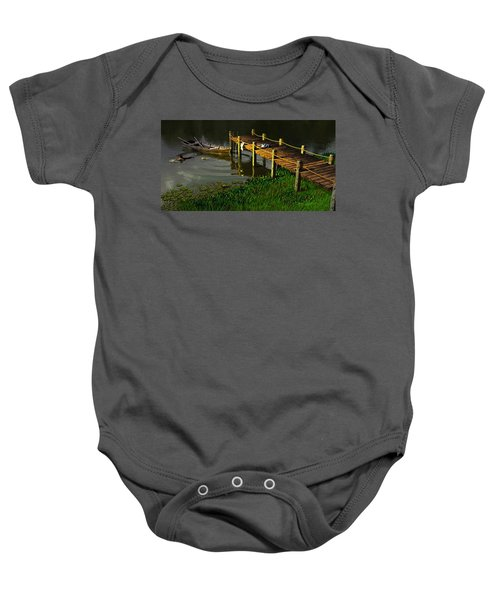 Reflections In A Restless Pond Baby Onesie
