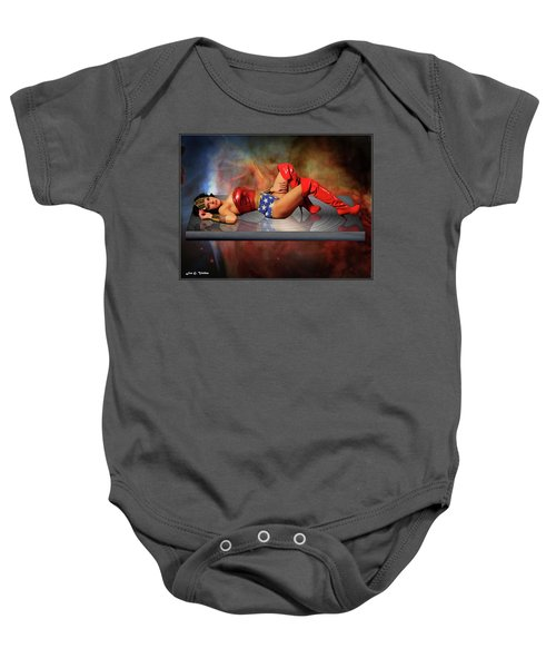 Reflections Of A Wonder Woman Baby Onesie