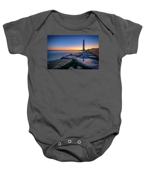 Reflections Of Barnegat Light Baby Onesie