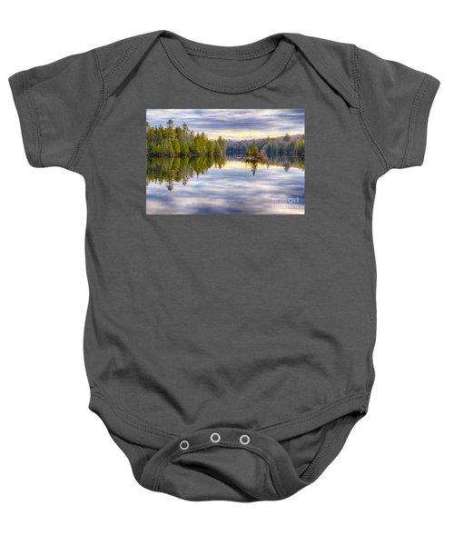 Reflections Of Lake Abanakee Baby Onesie