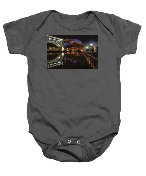 Reflections Of Veterans Memorial Bridge  Baby Onesie