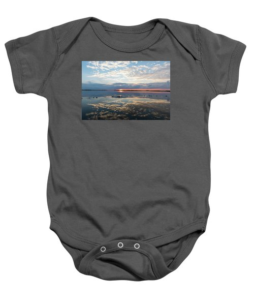 Reflections Over Back Bay Baby Onesie